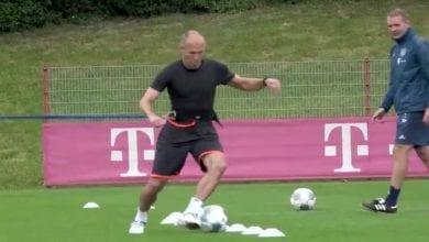 Photo de Arjen Robben: son retour à l'entrainement au Bayern Munich (vidéo)