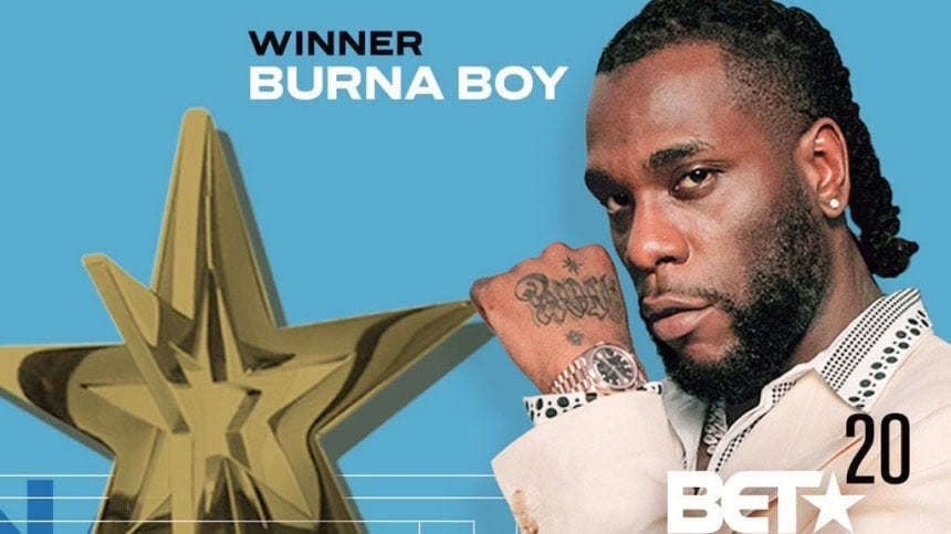 BET Awards 2020: le surprenant discours de Burna Boy après avoir remporté le prix du meilleur artiste international (vidéo)