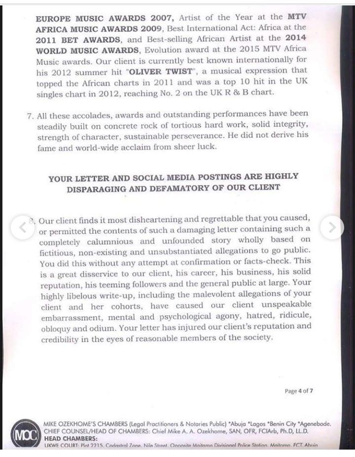 Le chanteur nigérian D'banj accusé de viol, il réagit!