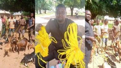 Photo de Nigeria: un politicien, fait don de cordes à sa communauté pour attacher leurs chèvres (photos)