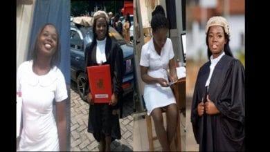 Photo de Elizabeth Owusua: l'histoire inspirante d'une jeune ghanéenne qui travaille comme avocate le jour et infirmière le soir