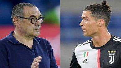 Photo de Juve: Cristiano Ronaldo taclé par son entraineur Maurizio Sarri