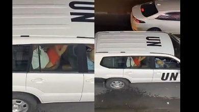Photo de Un couple surpris en plein ébat sexuel dans un véhicule de l'ONU, l'organisation réagit ! (vidéo)