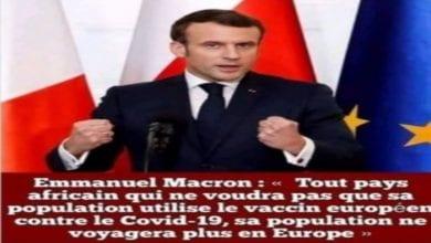 Photo de Emmanuel Macron a-t-il vraiment annoncé une obligation de vaccin pour les Africains?