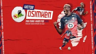 Photo de Prix Marc-Vivien Foé 2020: le Nigérian Victor Osimhen élu joueur africain de l'année en Ligue 1