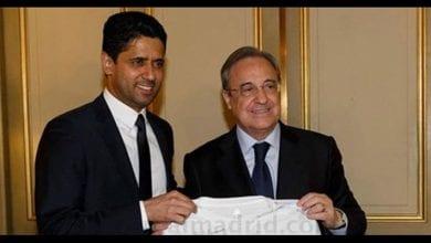 Photo de Florentino Pérez passe un important coup de fil à Nasser Al-Khelaïfi et boucle l'affaire