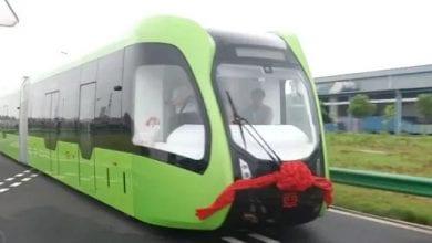 Photo de Chine: Voici le premier train sans rails-Vidéo