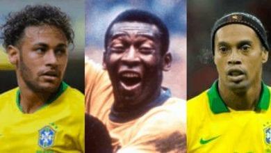 Photo de Football : découvrez  les meilleurs joueurs brésiliens de tous les temps… Ronaldinho 3e, Neymar 11e