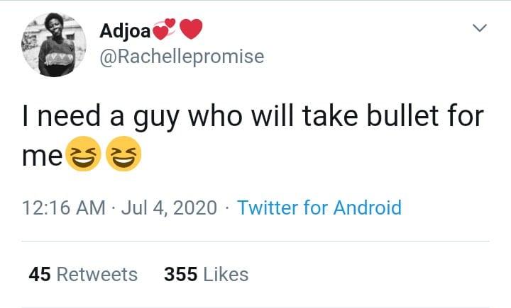 """""""J'ai besoin d'un homme qui prendra une balle pour moi"""", dixit une Ghanéenne"""
