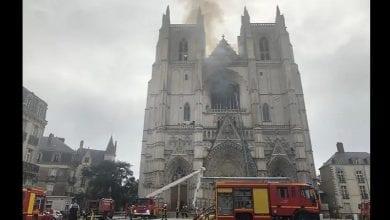 Photo de France : incendie à la cathédrale Saint-Pierre de Nantes -Vidéos