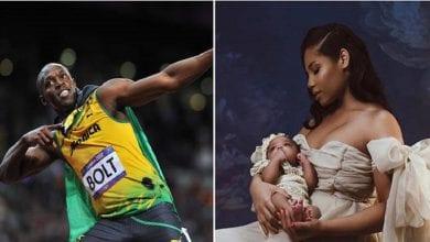 Photo de Usain Bolt publie des photos de sa fille pour la 1ère fois et révèle son nom: PHOTOS