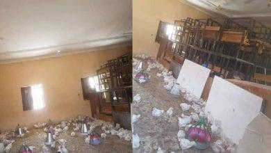 Photo de Nigeria: une salle de classe d'une école transformée en poulailler