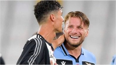 Photo de Cristiano Ronaldo : son message à Ciro Immobile à la fin du match