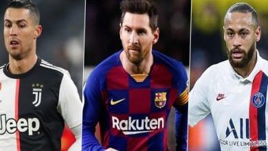 Photo de Top 5 des meilleurs dribbleurs de la saison dans les grands championnats européens… Neymar 4è, Messi 2è