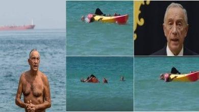 Photo de Portugal: le président nage et sauve deux femmes de la noyade (Vidéo)