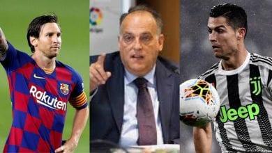 Photo de Le président de la Liga explique les conséquences du départ de Messi par rapport à celui de CR7
