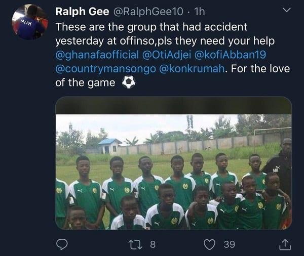 Ghana : des jeunes footballeurs meurent dans un terrible accident de voiture