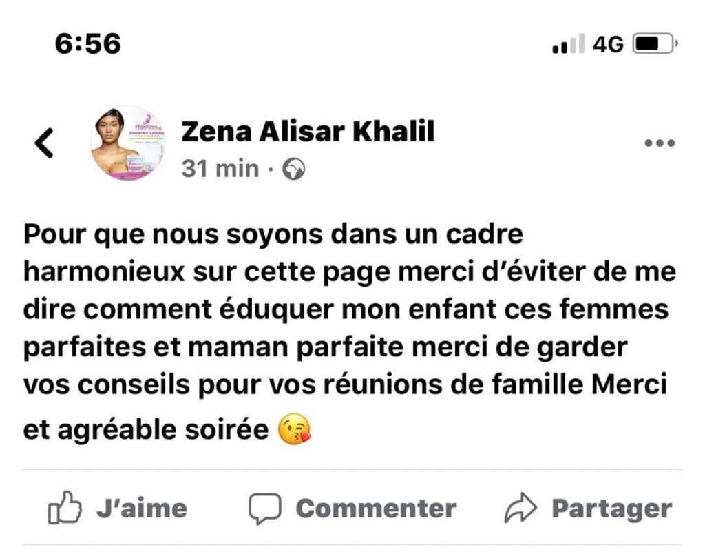 Alisar Zena en colère, recadre une nouvelle fois les internautes