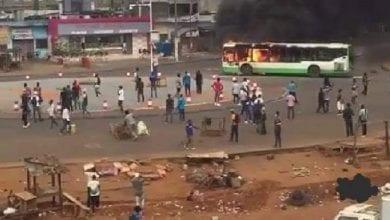 Photo de Côte d'Ivoire : les manifestations contre le 3è mandat d'Alassane ont repris ce lundi, plusieurs véhicules incendiés- Photos