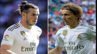 Photo de Réal Madrid : Luka Modric donne un conseil à Gareth Bale