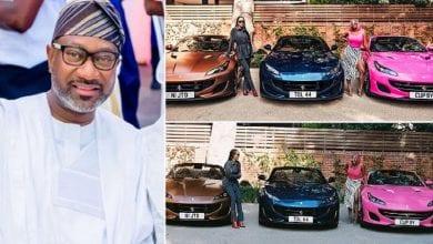 Photo de Un milliardaire nigérian offre 3 Ferrari à ses trois filles (photos)