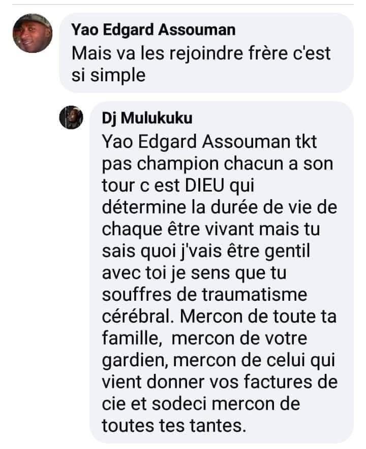 Côte d'Ivoire: Mulukuku DJ lance des injures très amères à des fans sur la toile