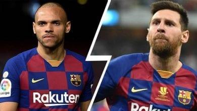 Photo de Barça: Martin Braithwaite a-t-il vraiment demandé le numéro 10 de Messi? le joueur répond !