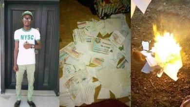 Photo de Nigeria: Incapable de trouver un emploi, un diplômé frustré aurait brûlé tous ses diplômes