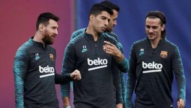 Photo de Barça : annoncé sur le départ, Luis Suarez débarque à l'entraînement avec Leo Messi