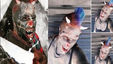 Photo de « Satan humain » : après le nez coupé, il se fait implanter des cornes sur la tête (photos)