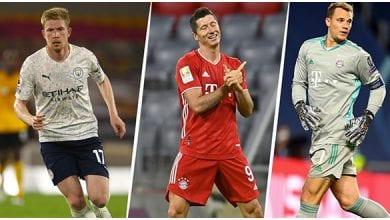 Photo de Meilleur joueur UEFA 2019/20 : De Bruyne, Neuer et… sur le podium, Messi, 4e
