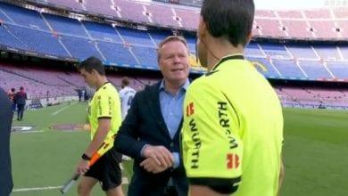 Photo de Barça-Real : la grosse colère de Koeman contre l'arbitre après le Clasico  !