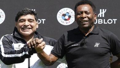 Photo de Anniversaire de Maradona : Pélé lui adresse un message émouvant