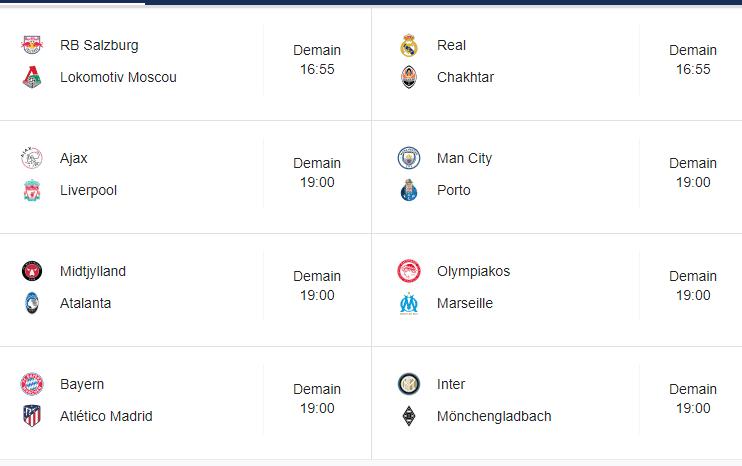 Ligue des Champions : découvrez le programme de la première journée des phases de groupes !