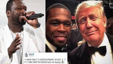 Photo de « Je me fiche qu'il n'aime pas les Noirs » : 50 Cent se fait clasher après avoir annoncé qu'il votera pour Trump