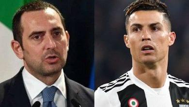 Photo de Covid-19 : le ministre des sports de l'Italie s'en prend à Cristiano Ronaldo