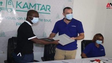 Photo de Signature de partenariat Lapaire / KAMTAR : des lunettes à partir de 19.000 FCFA pour tout transporteur-VIDEO