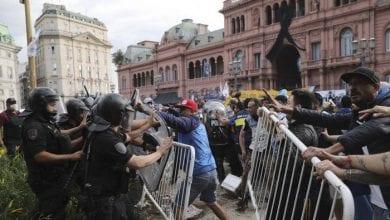 Photo de Argentine : émeute à la veillée funèbre de Maradona, on déplore un blessé !