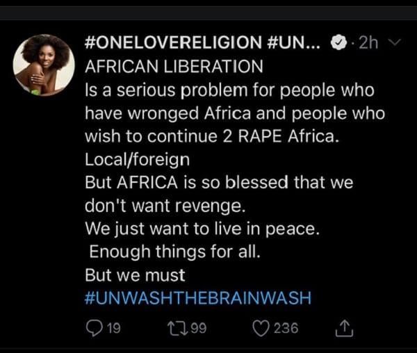 """2Face : """"la libération de l'Afrique est un problème grave pour les personnes qui souhaitent continuer à violer l'Afrique """""""