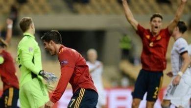 """Photo de Nations League : l'Espagne atomise l'Allemagne 6-0 et file au """"Final four"""""""