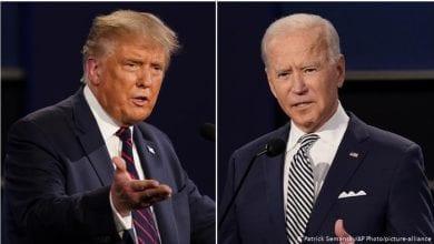 Photo de Donald Trump réagit à la fracture du pied de Joe Biden