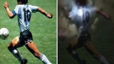 Photo de La « silhouette » de Diego Maradona aperçue dans le ciel par une fan obsédée (vidéo)