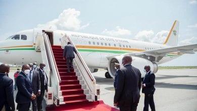 Photo de Côte d'Ivoire / Sans raison, Alassane Ouattara a quitté Abidjan pour la France