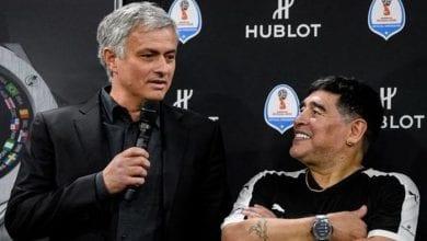 Photo de L'émouvant message de Mourinho à Maradona : « … il ne m'appelait jamais après une victoire… »