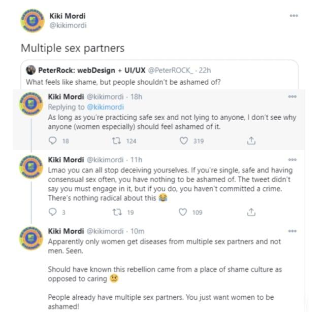 """""""Les femmes ne devraient pas avoir honte d'avoir plusieurs partenaires sexuels» dixit une journaliste"""