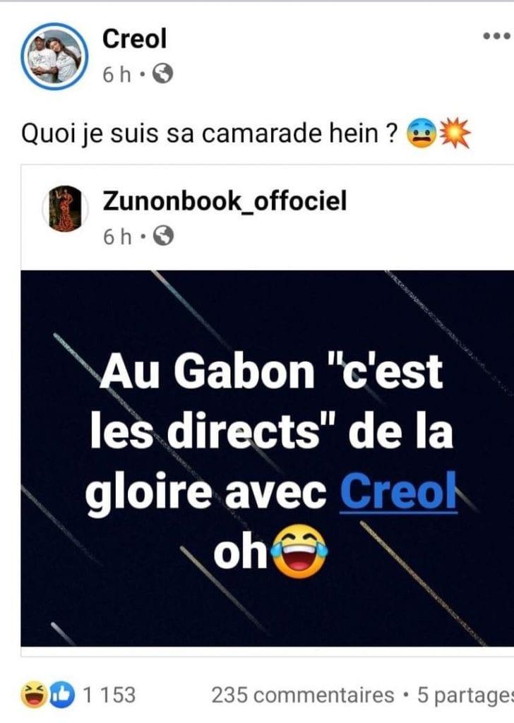 Eunice Zunon dans une nouvelle guéguerre avec la star gabonaise Créol
