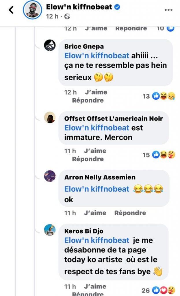 Côte d'Ivoire : l'amère réponse d'Elow'n à un fan qui attire la foudre de la toile