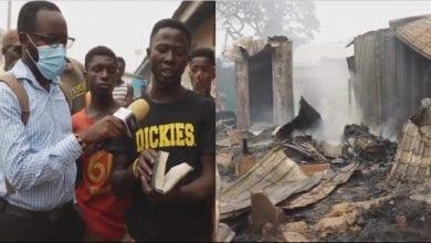 Photo de Ghana: une Bible retrouvée intacte dans un magasin rasé par le feu-Vidéo