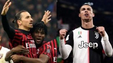 Photo de Ibrahimovic et Ronaldo, deux « doyens » qui marchent actuellement sur la Serie A !