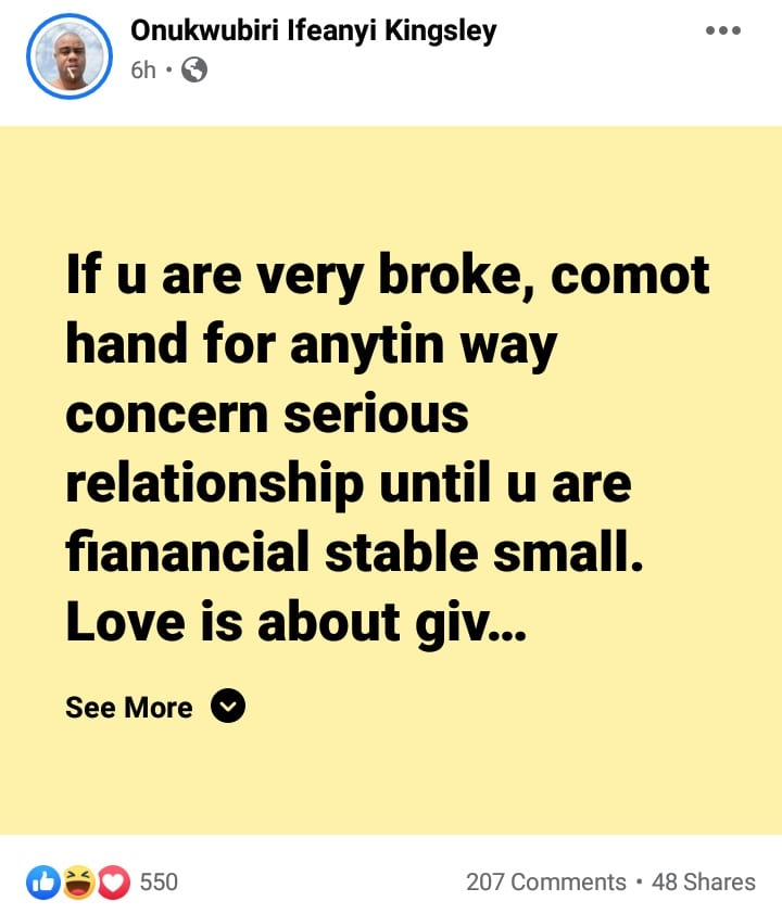 """""""Évitez toute relation sérieuse si vous êtes fauchés"""", conseille un businessman"""